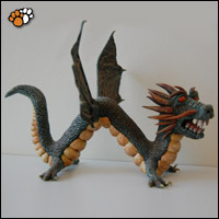 Fantasy Sculpture of Chinese Dragon